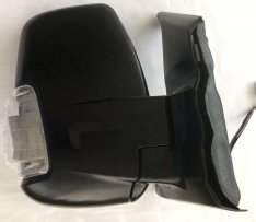 Door Mirror O/S – Manual Adjusting, Black Cover with Clear Indicator
