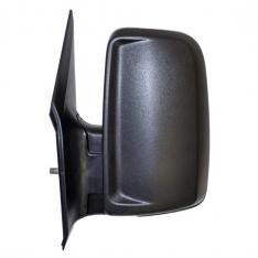 N/S Door Mirror – Manual, Short Arm, No Indicator, Black Textured Cover