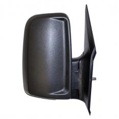 O/S Door Mirror – Manual, Short Arm, No Indicator, Black Textured Cover