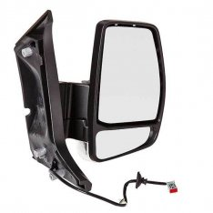 O/S Door Mirror – Electric, Heated, Black Cover with Indicator