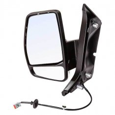 N/S Door Mirror – Electric, Heated, Black Cover with Indicator
