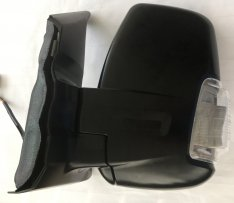 N/S Door Mirror – Electric, Heated, Black with Clear Indicator