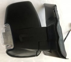 O/S Door Mirror – Electric, Heated, Black with Clear Indicator